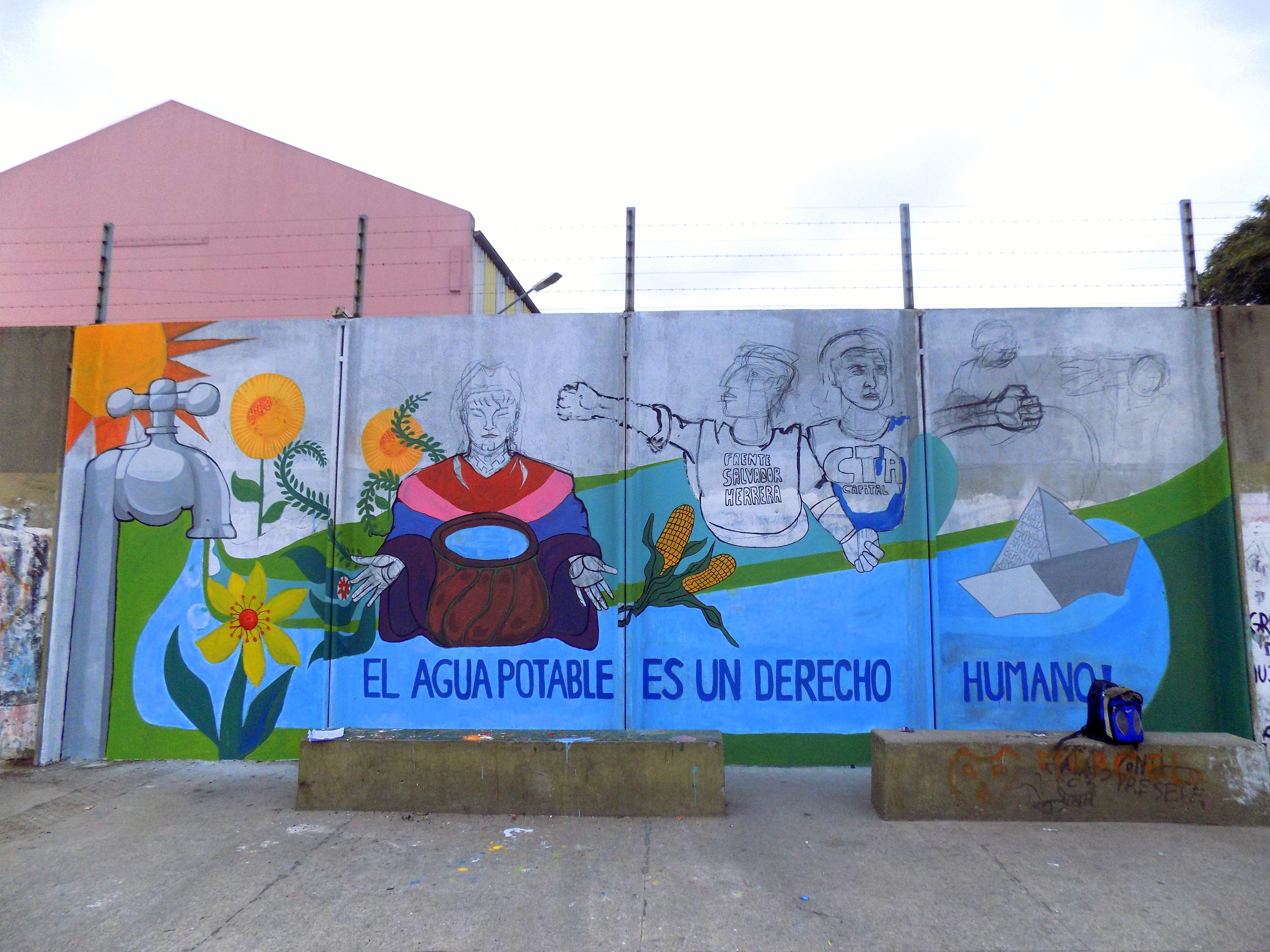 mural Villa 21 24- el agua es un derecho humano